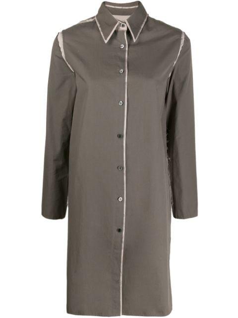 Asai long-line Frayed Shirt - Farfetch