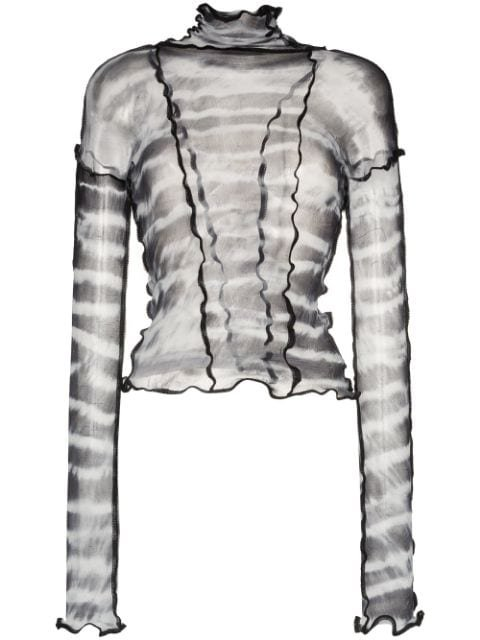 ASAI Hot Wok tie-dye Fitted Top - Farfetch