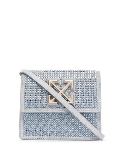 Off-White Jitney 0.7 crystal-embellished Clutch Bag - Farfetch