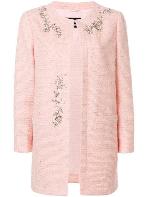 Boutique Moschino Embellished Tweed Jacket - Farfetch