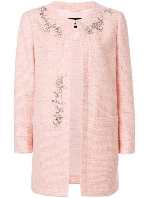 Boutique Moschino Embellished Tweed Jacket - Farfetch