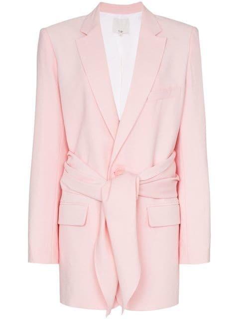 Tibi tie-front linen-blend Blazer - Farfetch