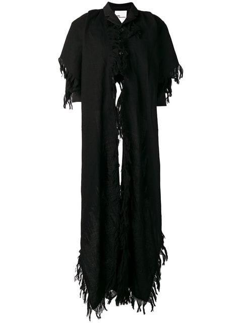 Comme Des Garçons Noir Kei Ninomiya Cropped Scarf Jacket - Farfetch