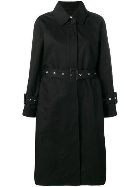 Mackintosh Black Cotton Single Breasted Trench Coat LM-097BS - Farfetch