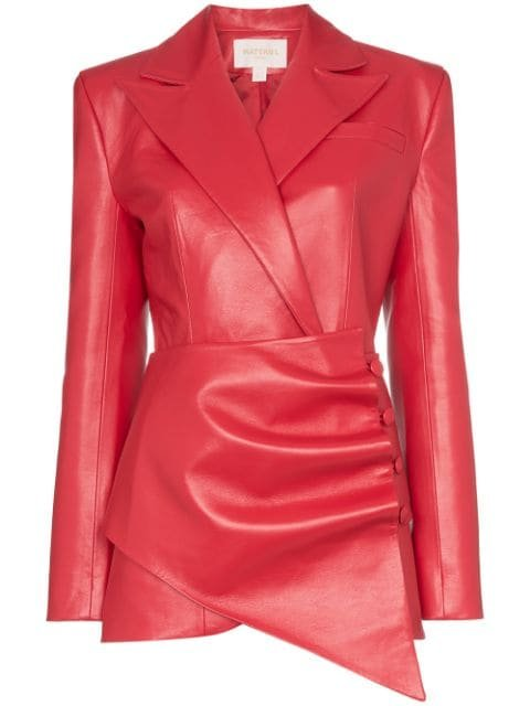 Matériel Gathered Asymmetric Blazer - Farfetch