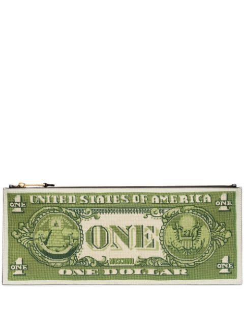 Moschino Dollar Bill Clutch Bag - Farfetch