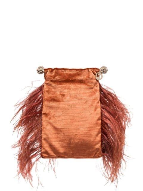 Rosantica Athos Feather Detail Clutch - Farfetch