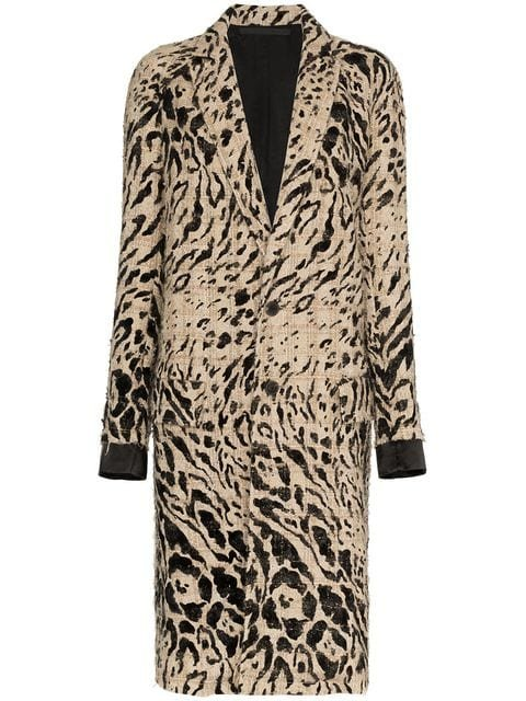Haider Ackermann Animal Print Wool Coat - Farfetch
