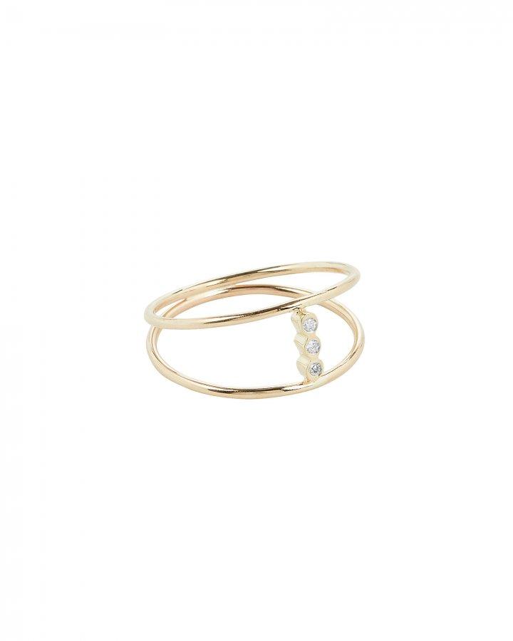 Bezel Diamond Open Ring