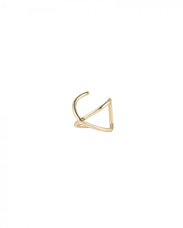 Crossover Gold Ear Cuff
