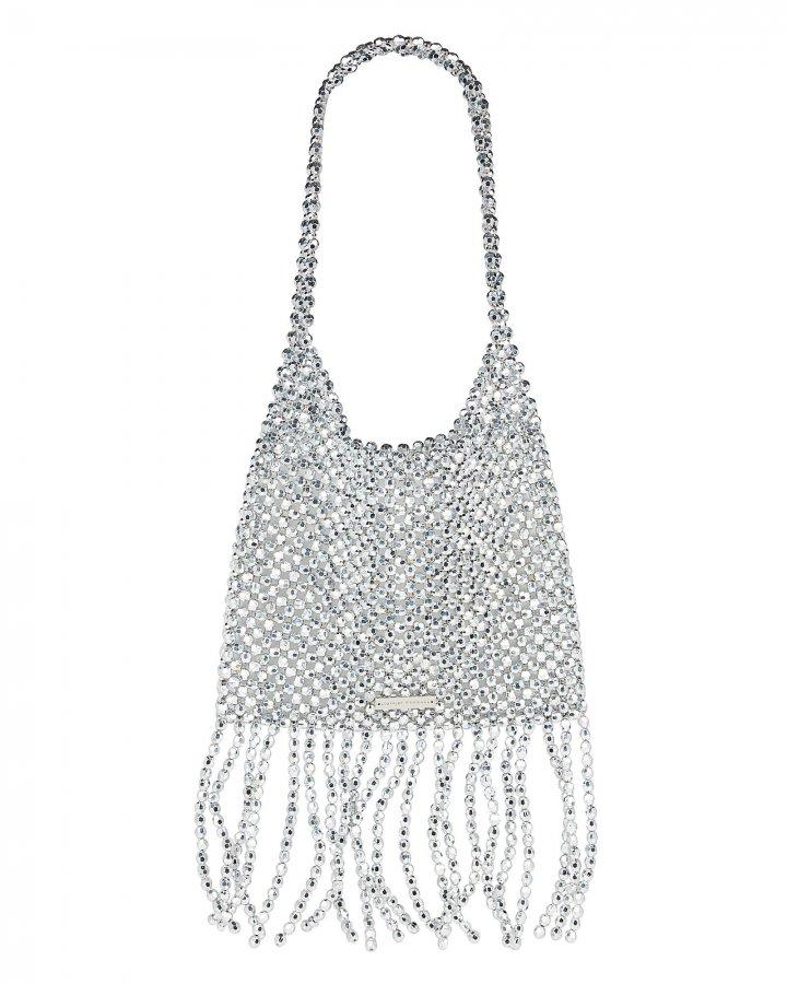 Cher Beaded Fringed Shoulder Bag