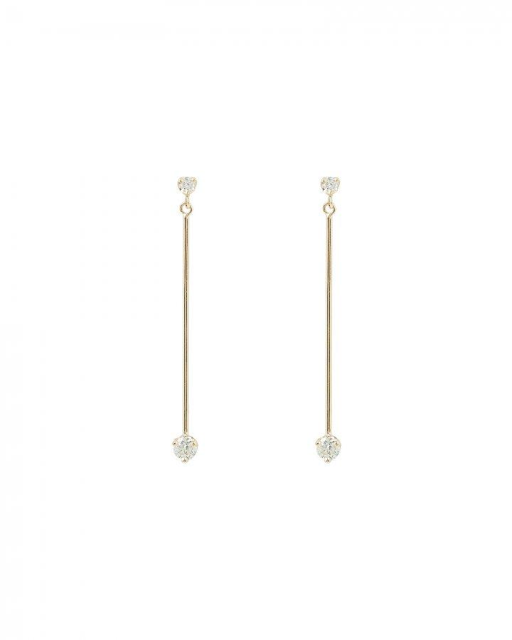 Mobile Bar Bezel Diamond Earrings