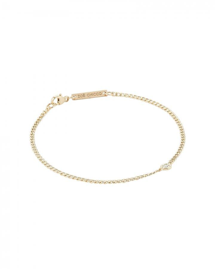 Curb Chain Diamond Bracelet