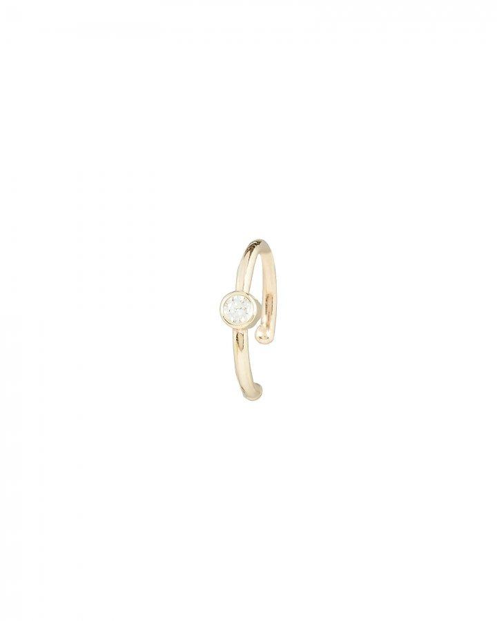 Bezel Diamond Gold Ear Cuff