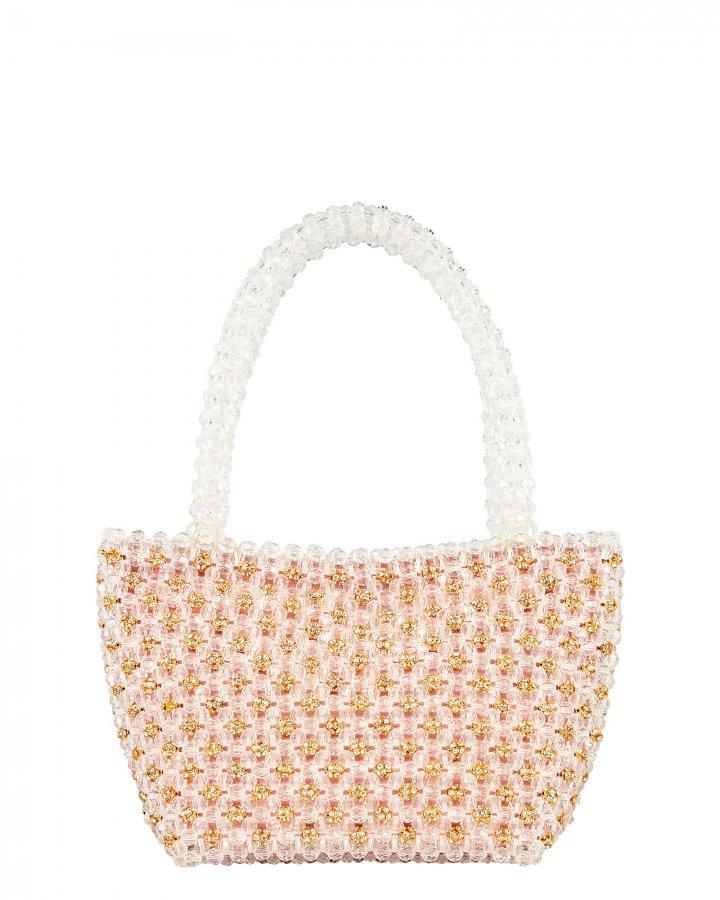 Mina Mini Beaded Tote Bag