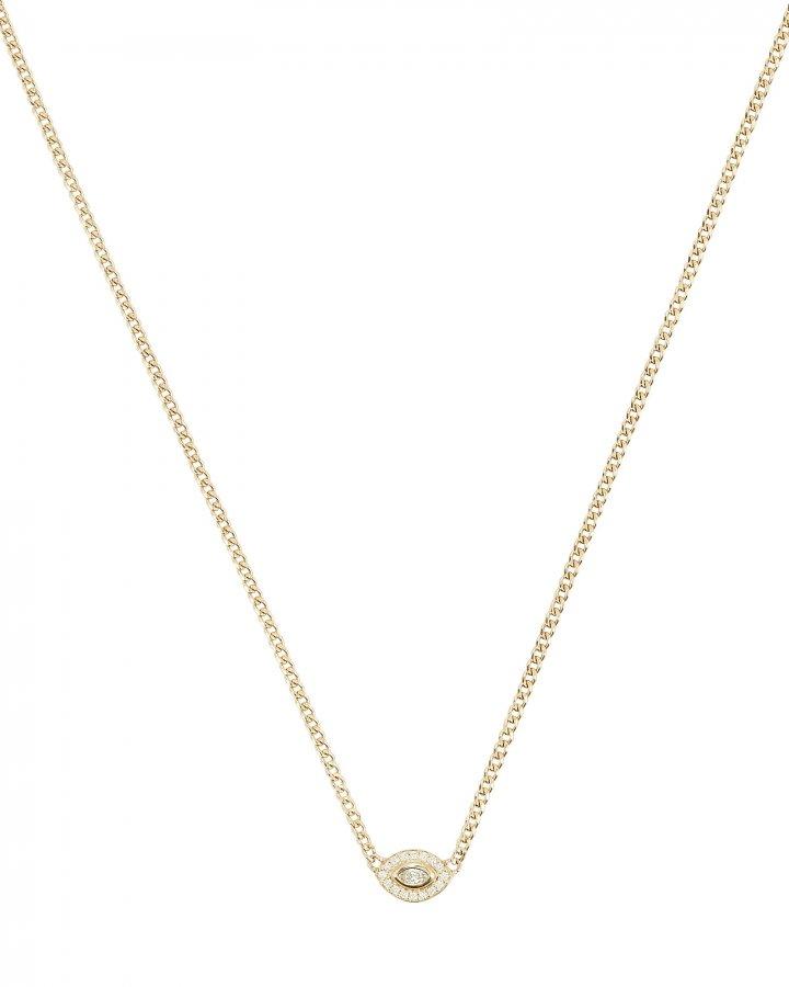 Marquis Diamond Halo Necklace
