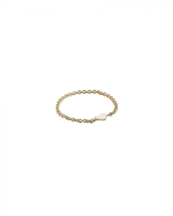 Itty Bitty Heart Chain Ring