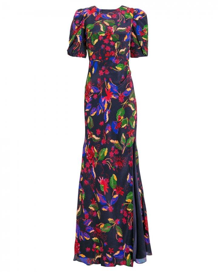 Annie B Floral Silk Gown