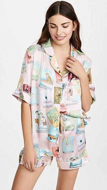 Book Covers Short Sleeve Pajamas