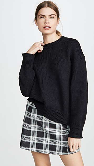 Wool Oversized Crew Sweater