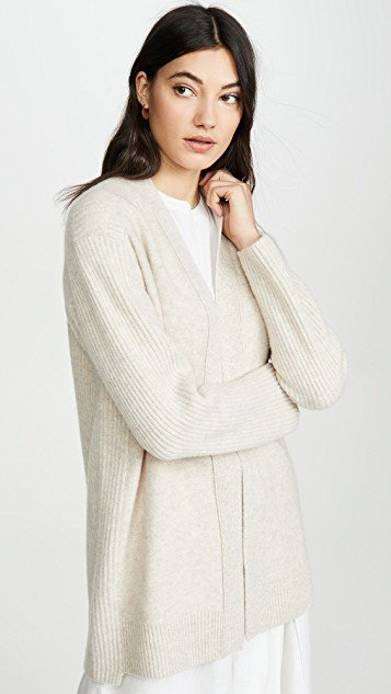 Ribbed Back Cardigan