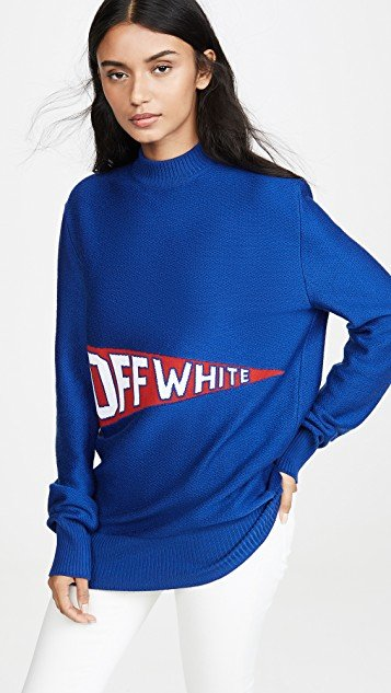 Off White Flag Crew Neck