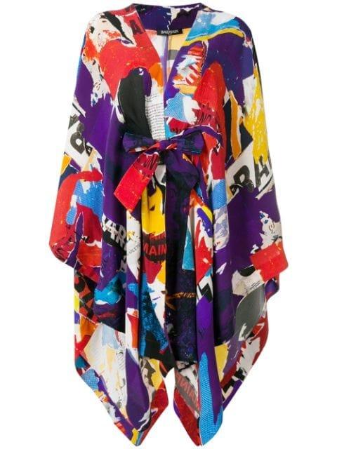 Balmain Multiprint Oversized Robe - Farfetch