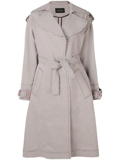 Cédric Charlier Checked Trench Coat - Farfetch