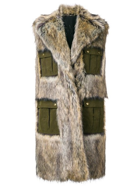 Philosophy Di Lorenzo Serafini Sleeveless faux-fur Coat - Farfetch