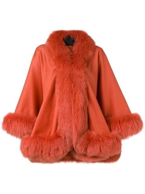 Liska Oversized fur-trimmed Coat - Farfetch