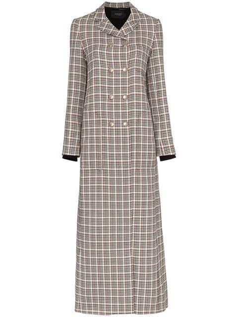 Giambattista Valli Houndstooth Check Print Wool Coat - Farfetch