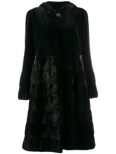 Liska Hooded Fur Coat - Farfetch