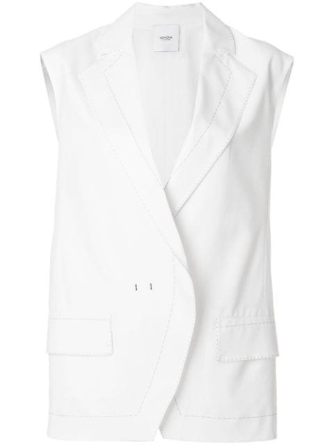 Agnona Contrast Stitch Oversize Waistcoat - Farfetch