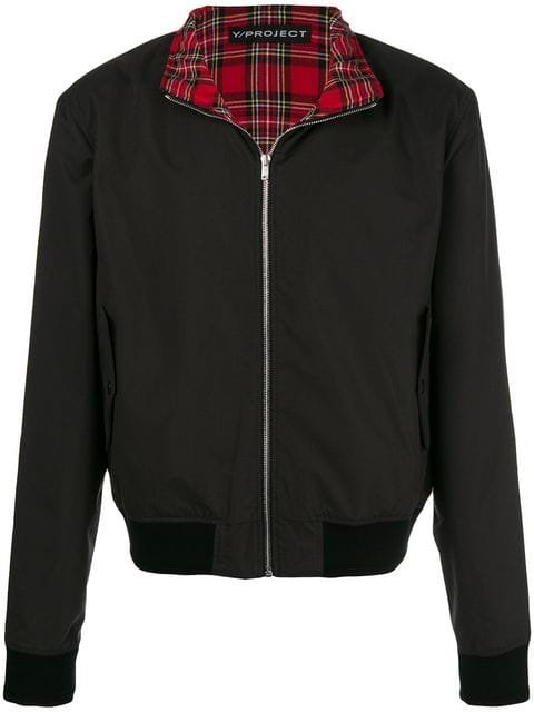 Y/Project Plaid Layer Bomber Jacket - Farfetch