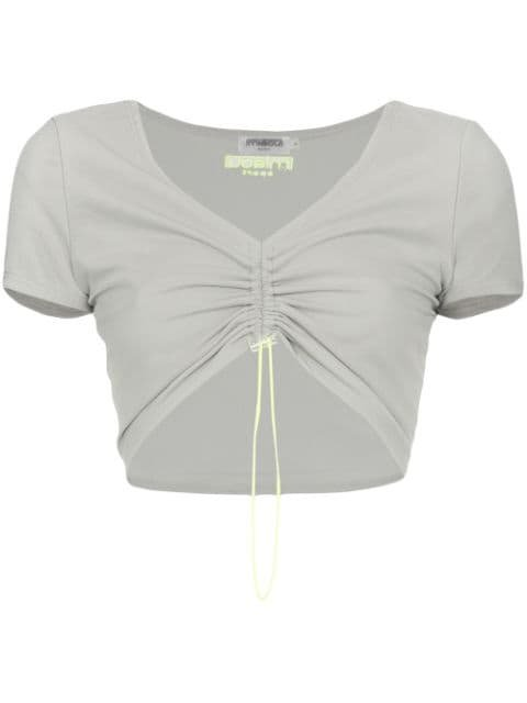 Miaou Gwen Drawstring Crop Top - Farfetch
