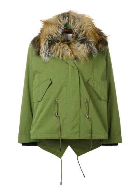 Yves Salomon Army Short Cotton Jacket With Fox Fur - Farfetch