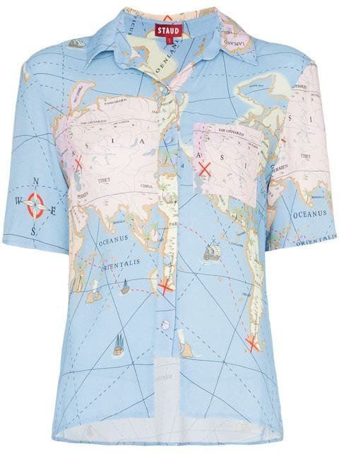 Staud Sail Print Crêpe De Chine Shirt - Farfetch