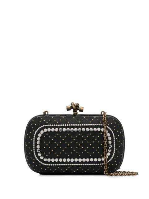 Bottega Veneta Black Catena Studded Clutch Bag - Farfetch