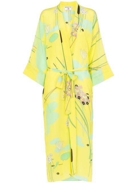 Bernadette Peignoir Silk Kimono Robe - Farfetch