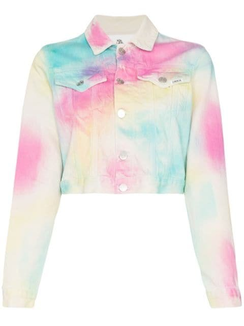 Jordache Rainbow tie-dye Denim Jacket - Farfetch