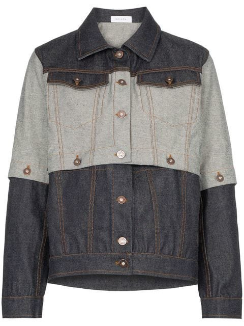 Delada Contrast Panel Denim Jacket - Farfetch