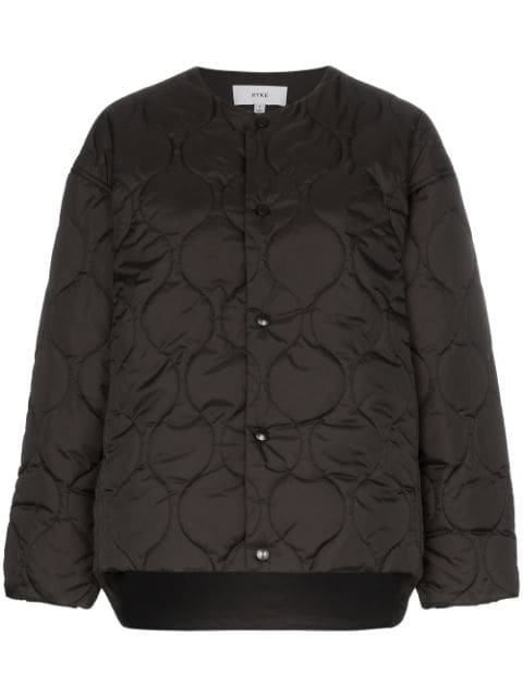 Hyke Collarless Quilted Jacket - Farfetch