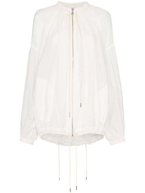 Lee Mathews Ginger Ruched Bomber Jacket - Farfetch