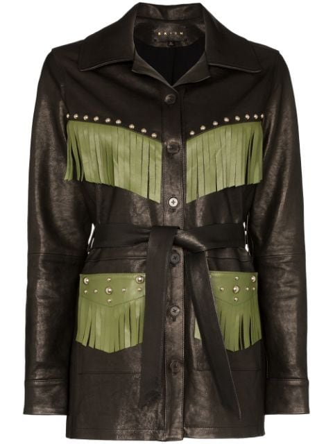 Skiim Billy Fringed Trim Jacket  - Farfetch