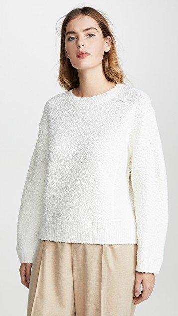 Texture Boucle Crew Neck Sweater