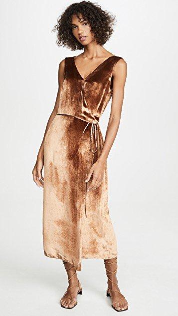Panne Wrap Dress