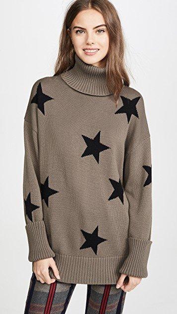 Falling Stars Turtleneck Sweater