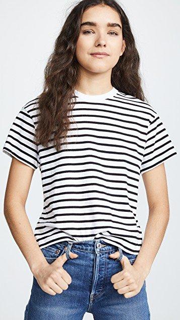 Short Sleeve Stripe Boy Tee