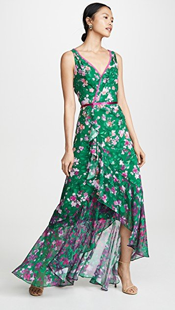 Floral High Low Gown
