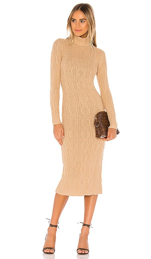 Turtleneck Cable Dress